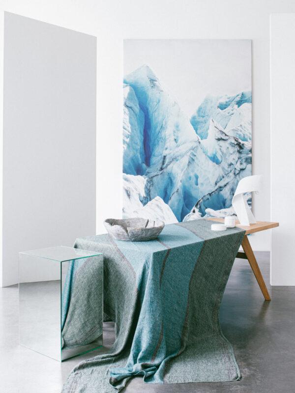 Mantel de lino tejido y teñido – Tres colores