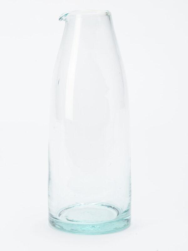 Botella para leche y agua de vidrio soplado reciclado