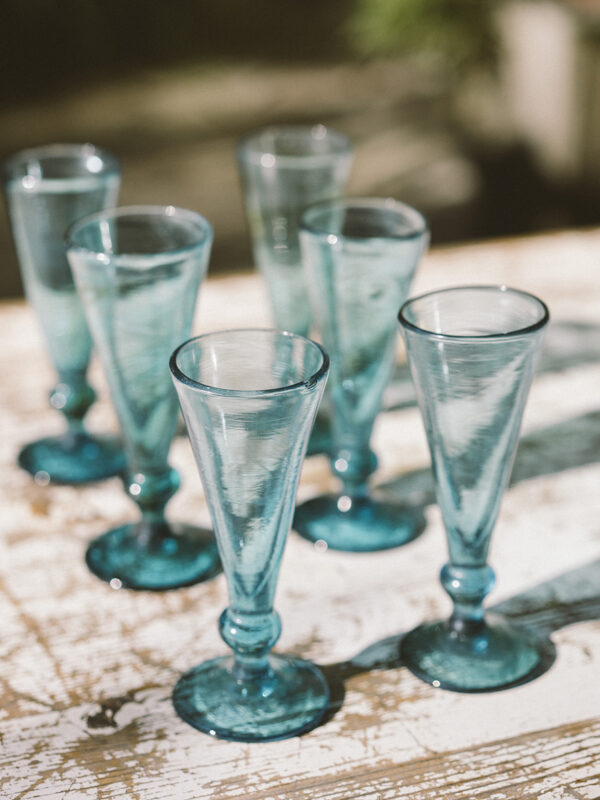 Set copas de champagne – Vidrio soplado
