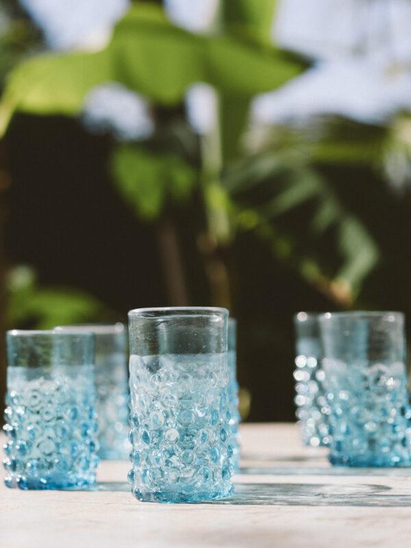 Set vasos pompas – Vidrio soplado