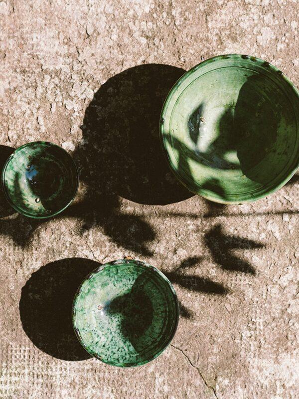 Ensaladeras y cuencos de cerámica, Tamegroute