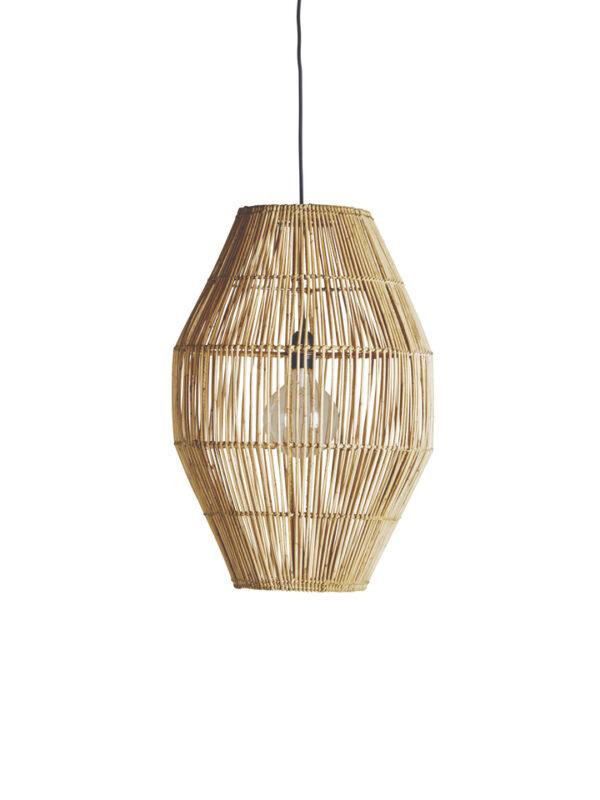 Lámpara hecha a mano de ratán natural