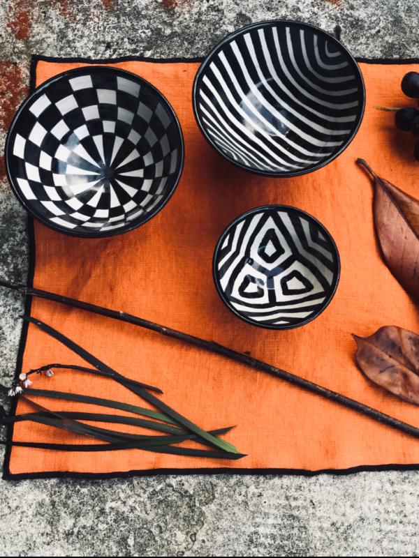 Ensaladeras y cuencos de cerámica de Fez, línea étnica