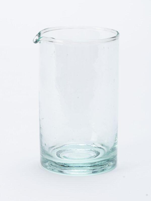 Jarra o jarrón pequeño en vidrio soplado reciclado