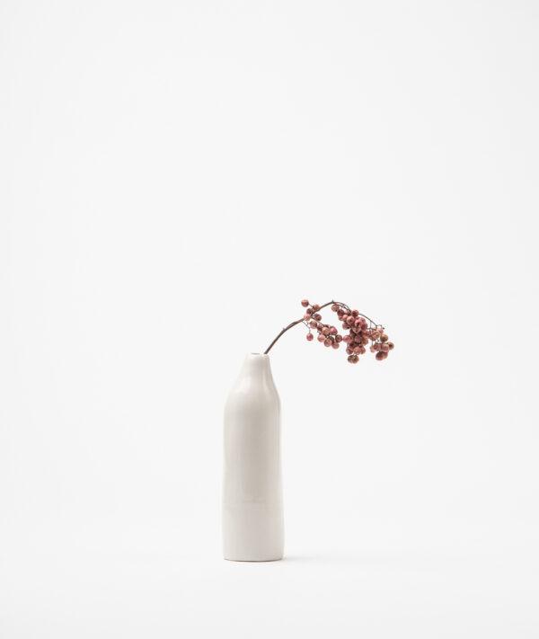 Jarrón pequeño hecho a mano en porcelana