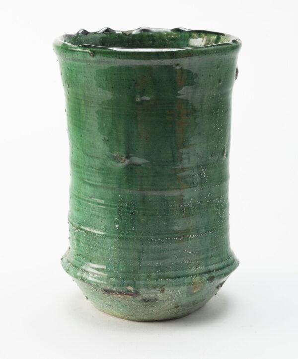 Jarron de ceramica artesano Tamegrout color verde