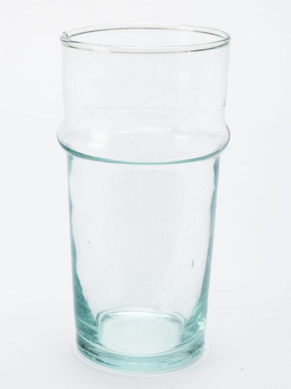 Jarrón de vidrio soplado reciclado