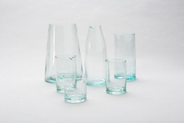 Jarron vidrio soplado artesano