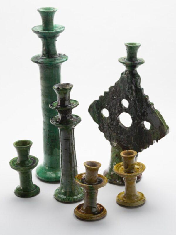 Candelabros cruz de cerámica, Tamegroute