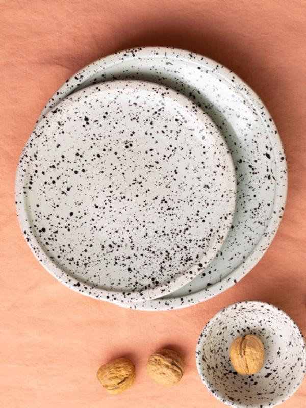 Platos de cerámica de Fez, línea granito