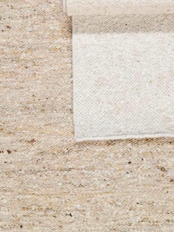 Alfombra artesanal 80% lana / 20% algodón – Rif – Blanco, 90×150 cm