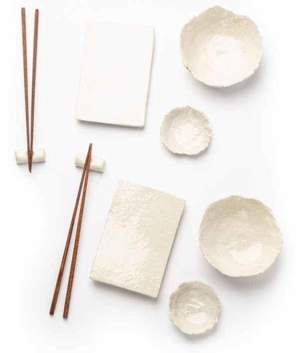 Set de Sushi para dos personas en color blanco