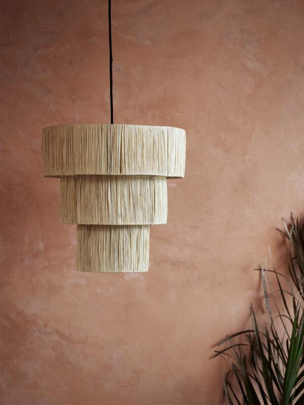 Lámpara trenzada de paja – Dos tamaños