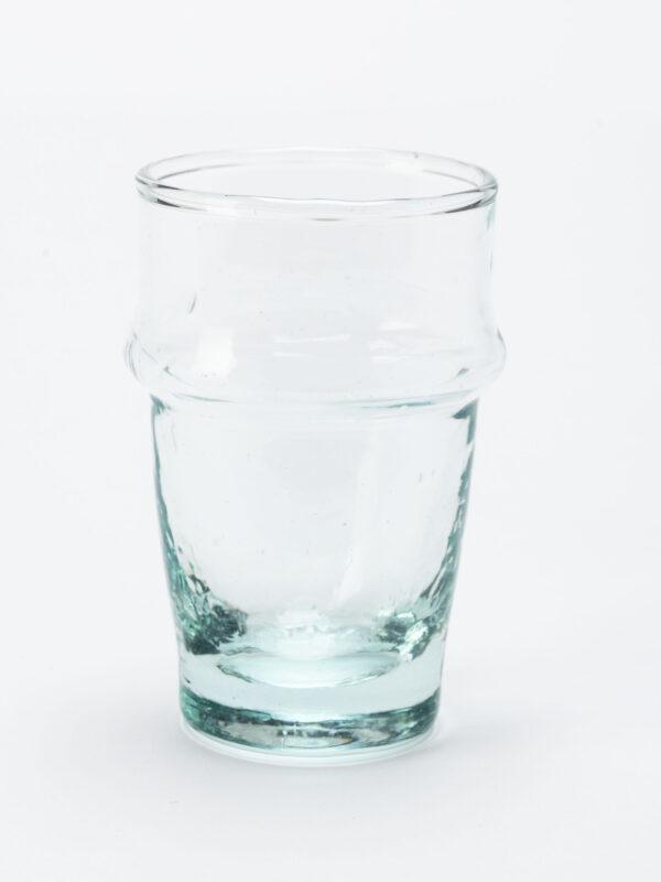 Set de 6 vasos de vidrio reciclado soplado – Beldi