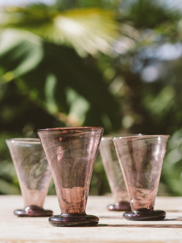 Set vasos evasé – Vidrio soplado