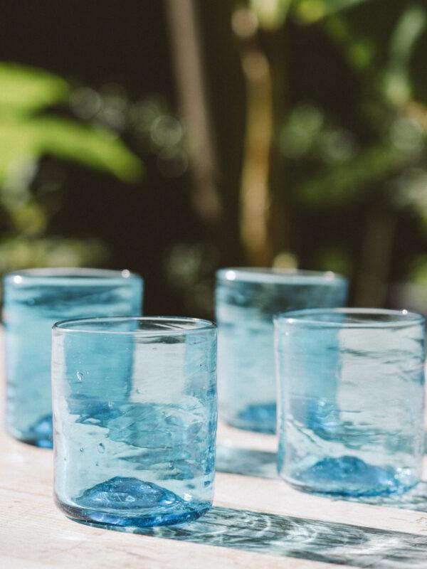 Set vasos cuadrados – Vidrio soplado