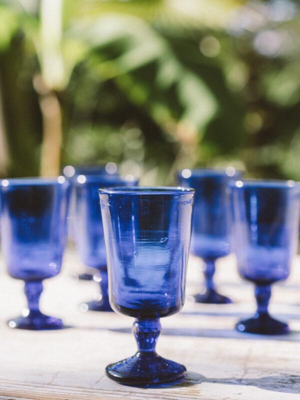 Set vasos de vino – Vidrio soplado