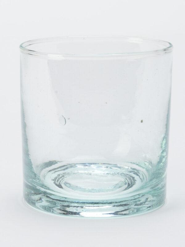 Set de 6 vasos pequeños en vidrio reciclado soplado
