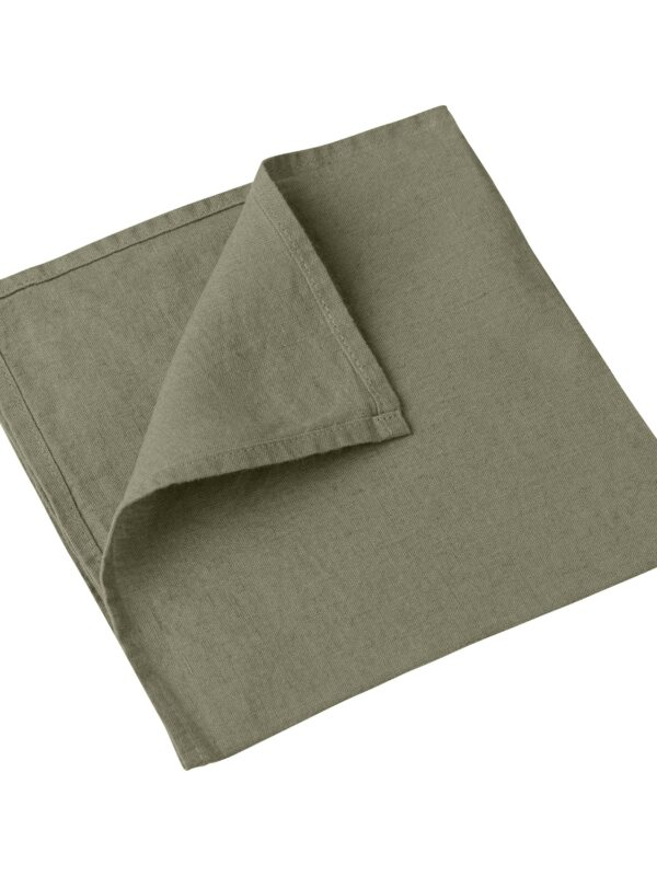 Set de servilletas de lino lavado – Un color – Caqui